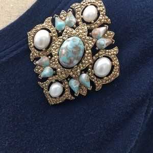 Vtg Sarah Coventry Large Brooch Pin Pendant Combo